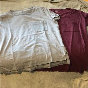 TWO Old Navy Short Sleeved Shirts with Pocket